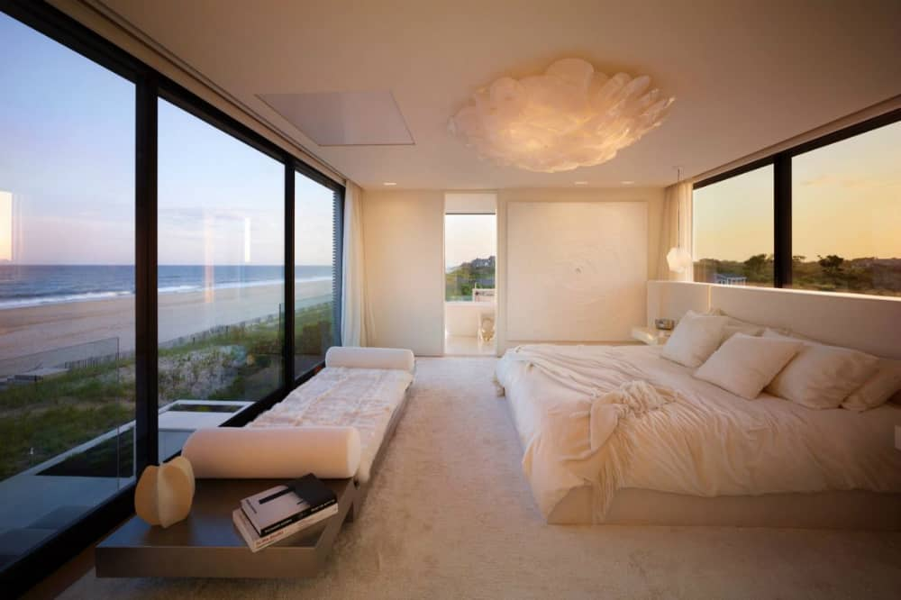 One of the bedrooms has views of both sides
