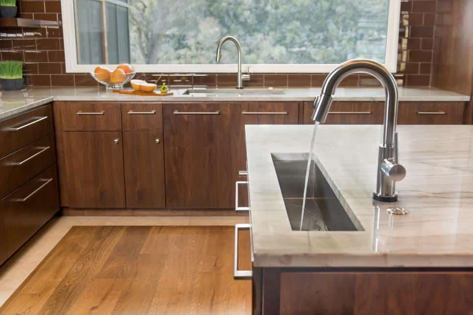Paula Ables kitchen with modern sleek sinks