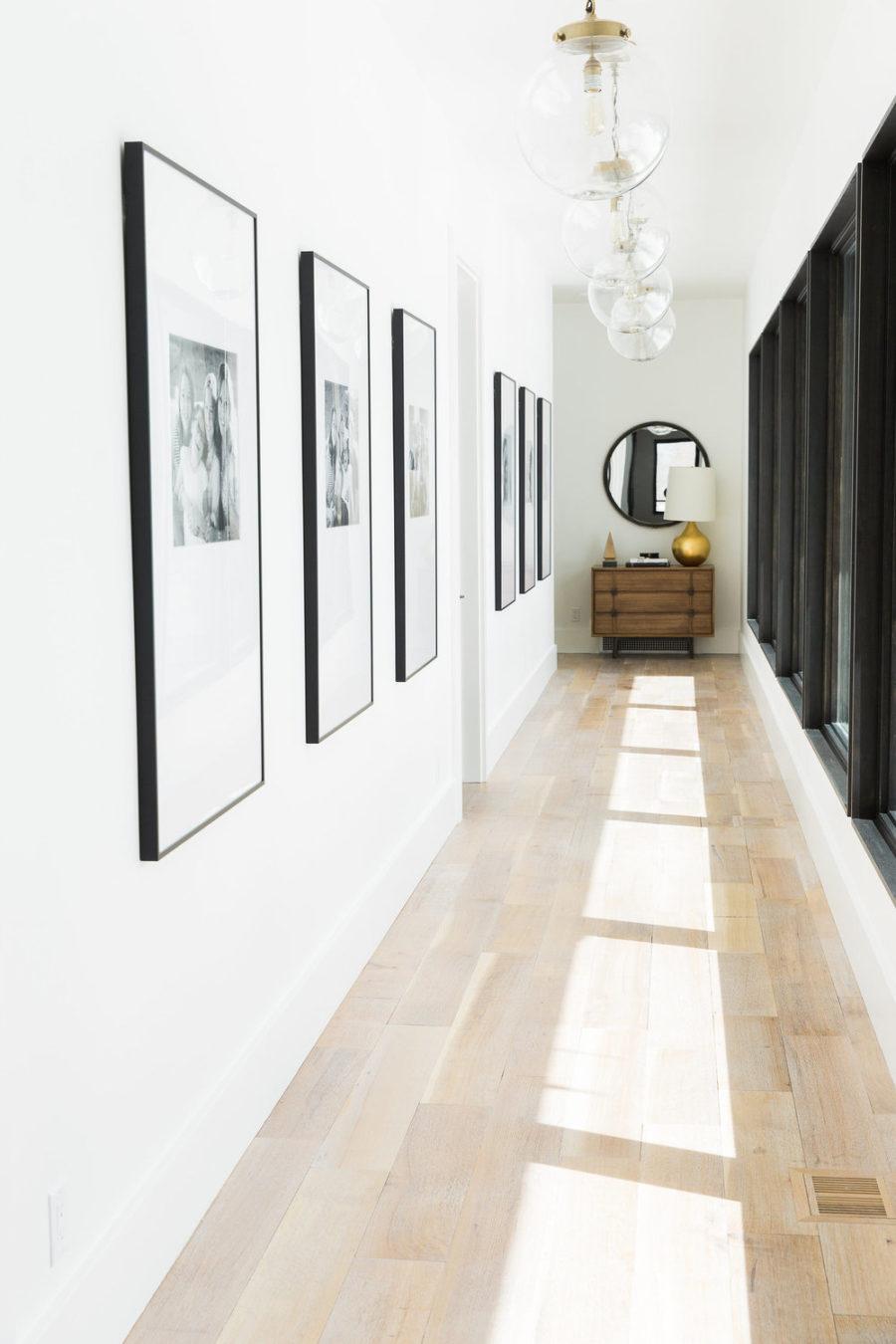 Portrait gallery hallway via Studio McGee
