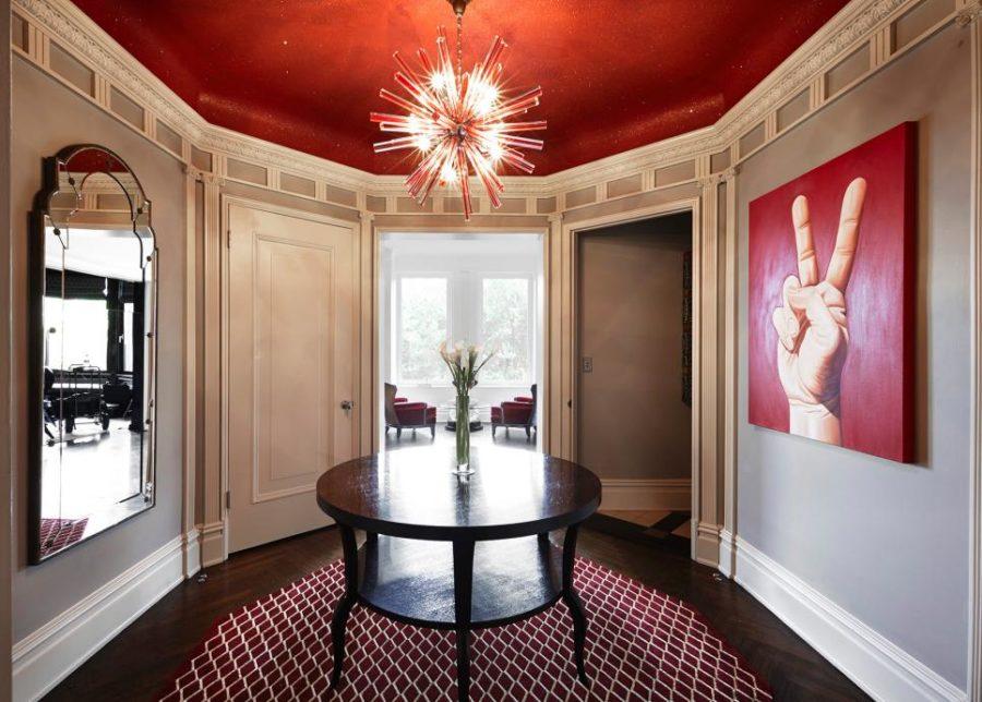 Red glittery ceiling by Kari Whitman