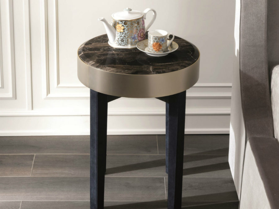Ring bedside table by Fratelli Longhi