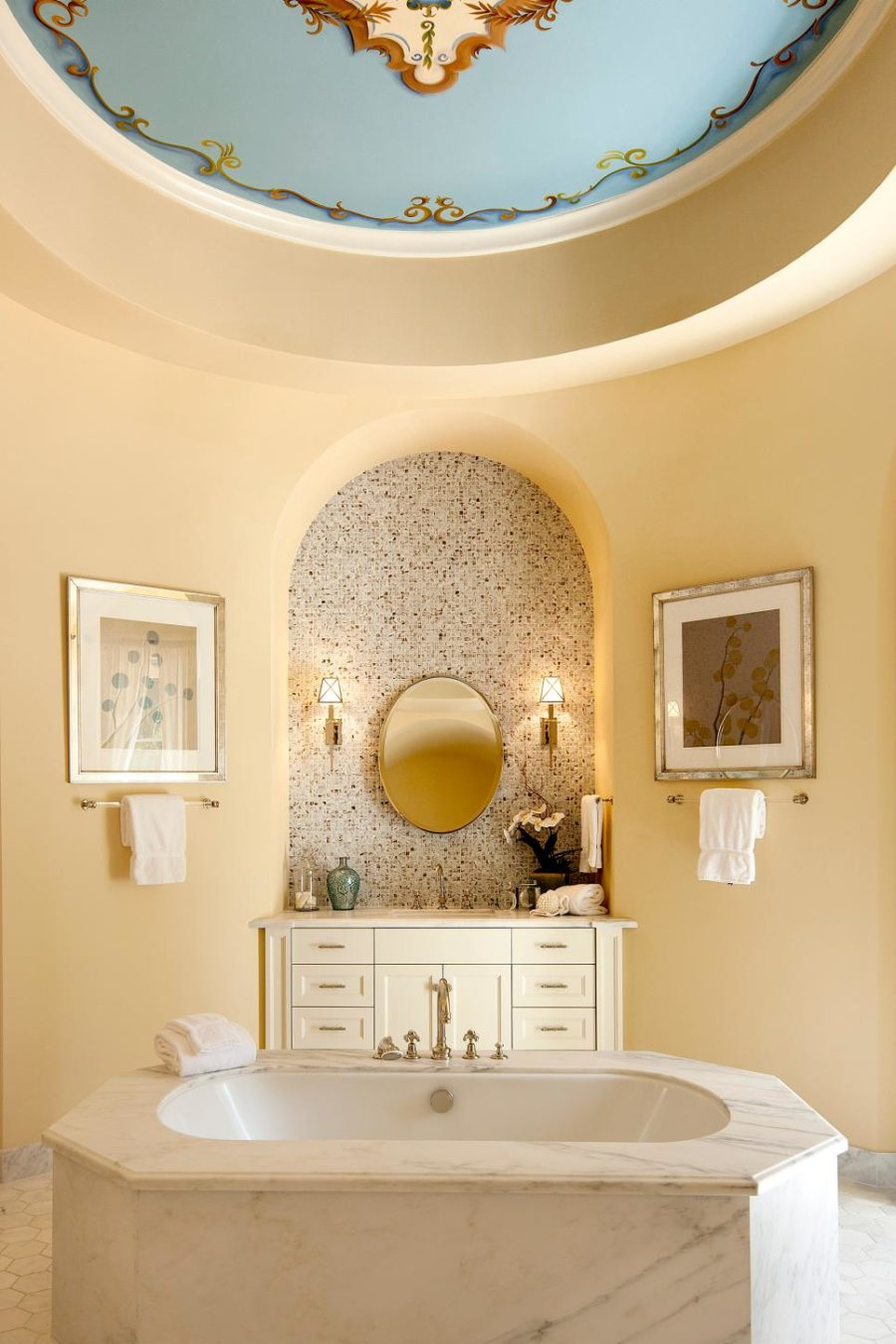 Round ceiling via Village Properties