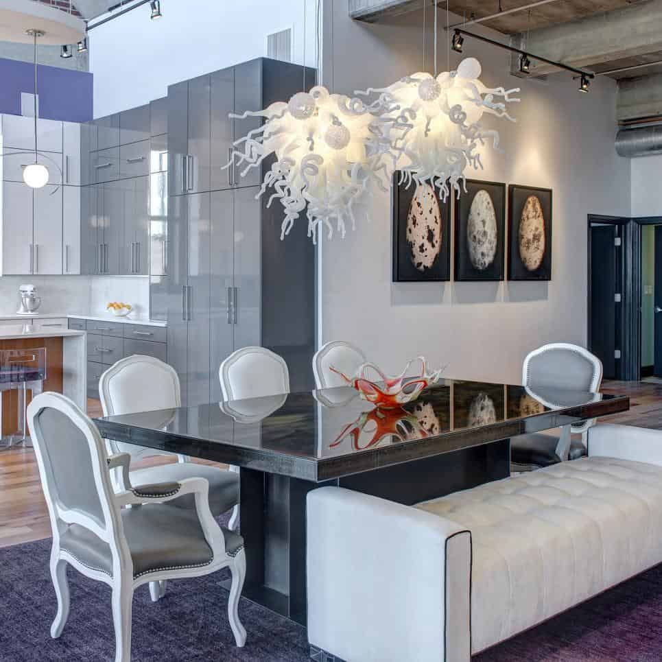 S&K Interiors Downtown Loft dining