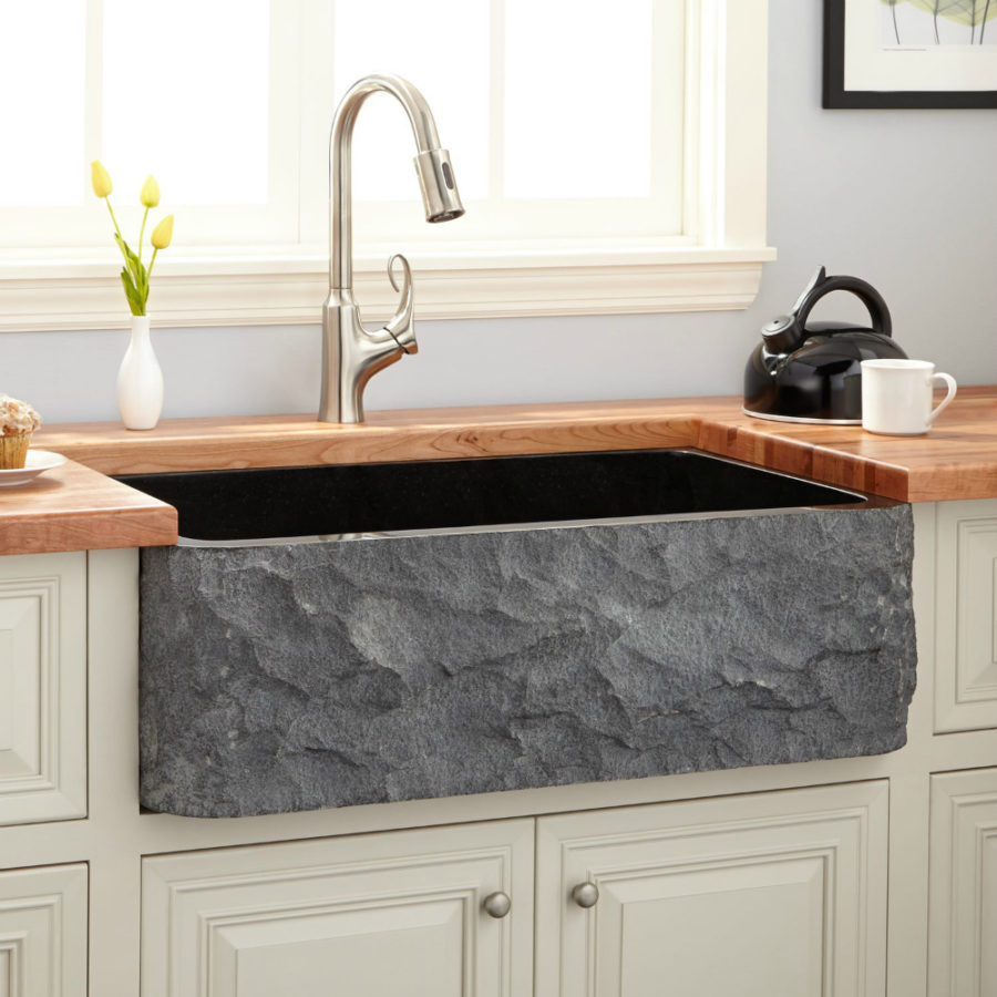 Signature Hardware granite kitchen sink