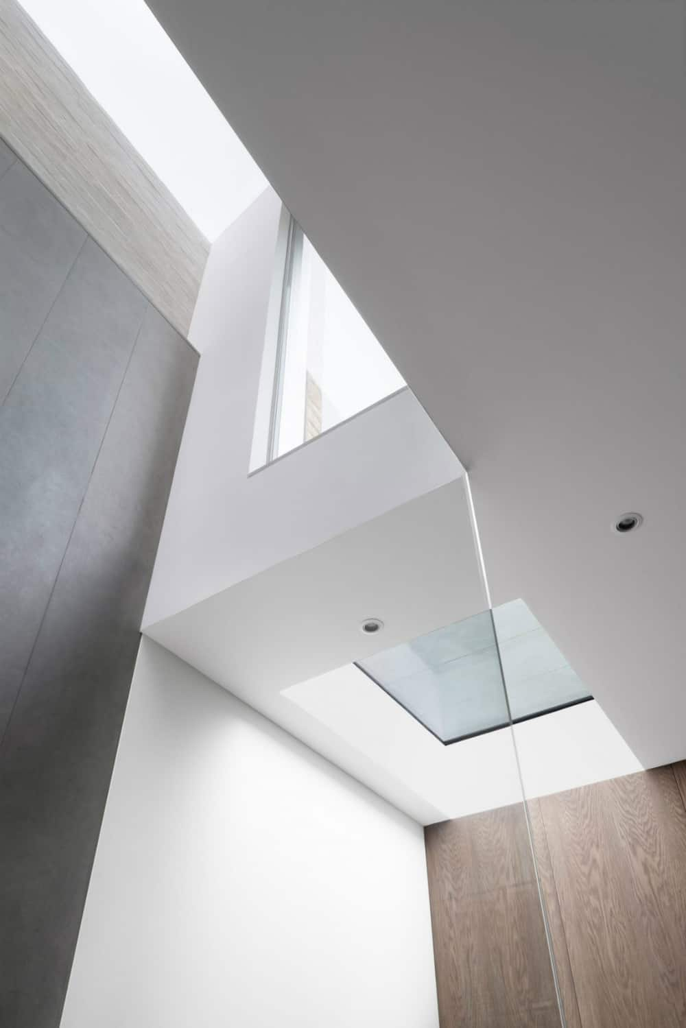Skylights allow the light to travel through multiple levels