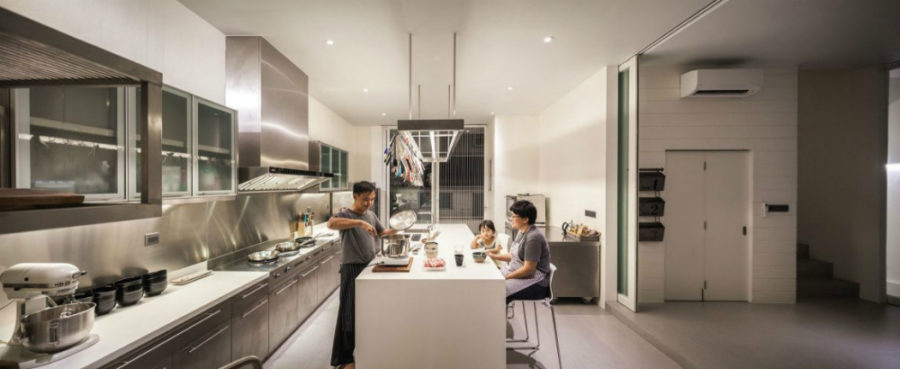 Stainless steel outfits an entire kitchen