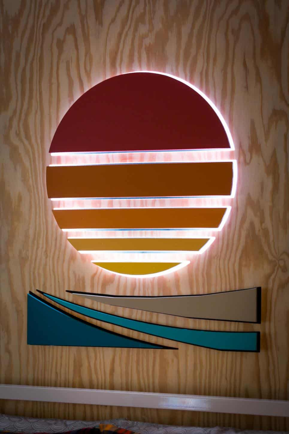 Sun Wall Art and Lighting Fixture by J&J Design Group