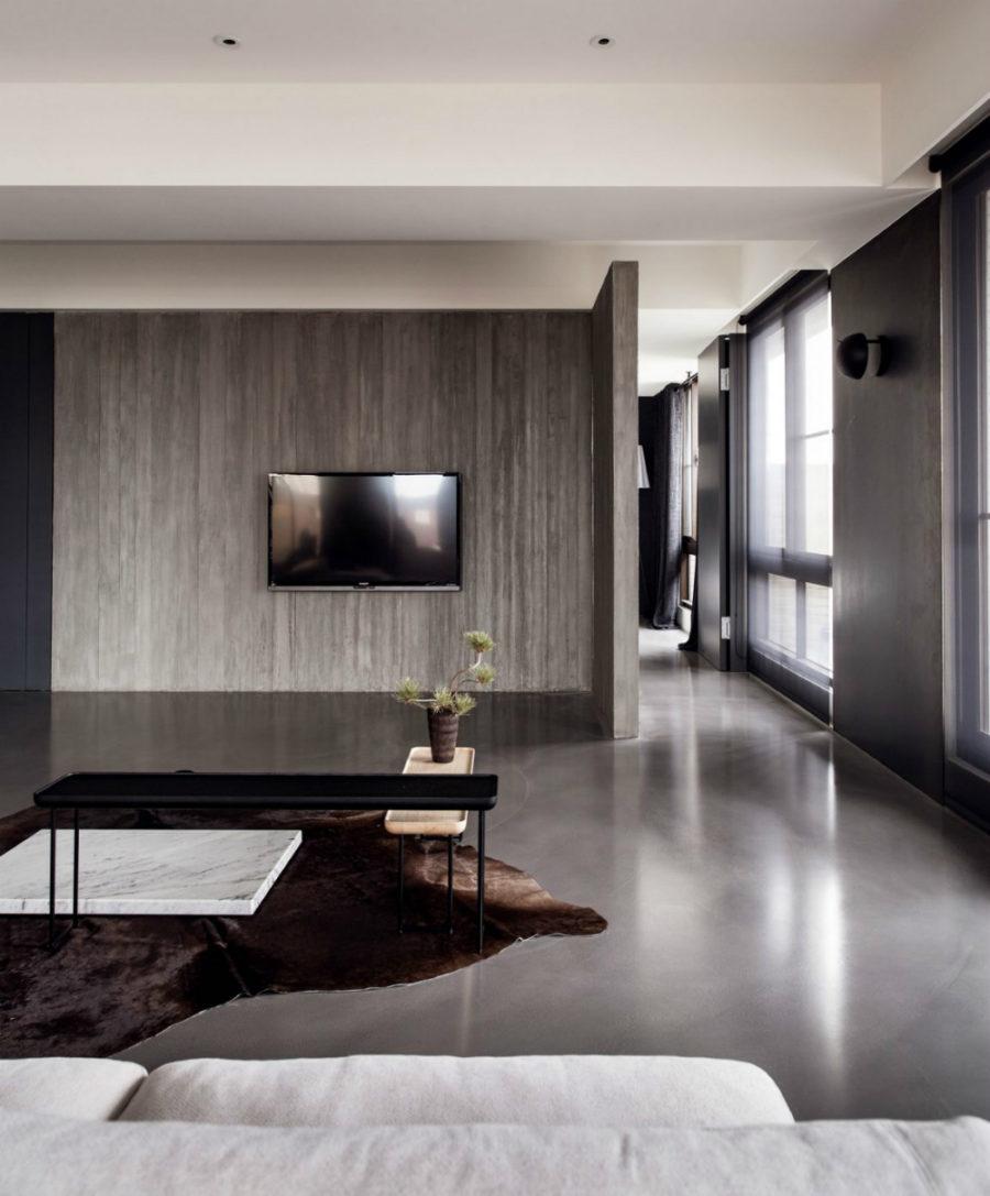 TV wall is minimal