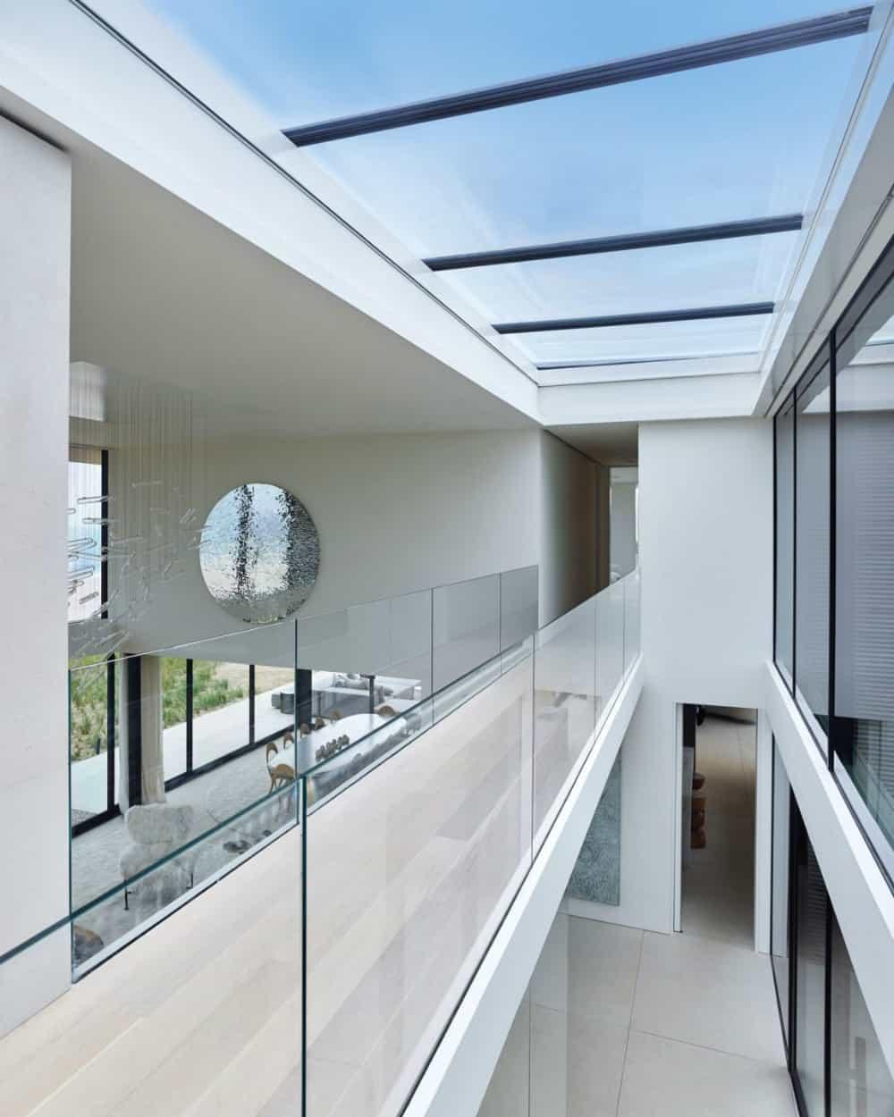 The hallway has its own atrium