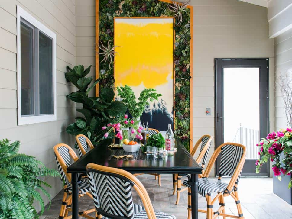 Tiffany Brooks design with a green wall art