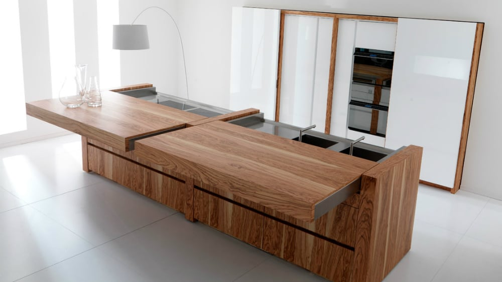 Toncelli kitchen island with a sliding-top