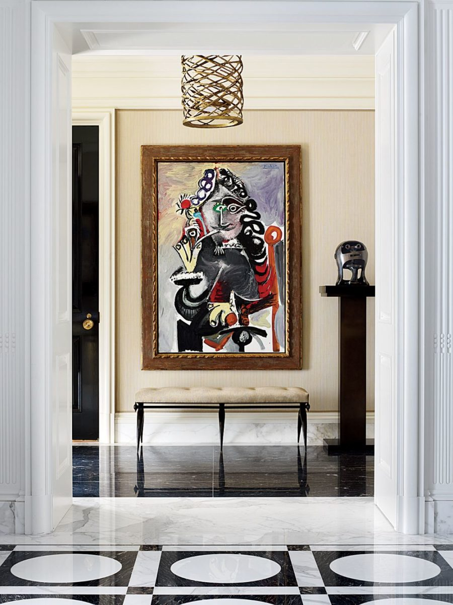 Traditional Entrance Hall by Michael S. Smith Inc.