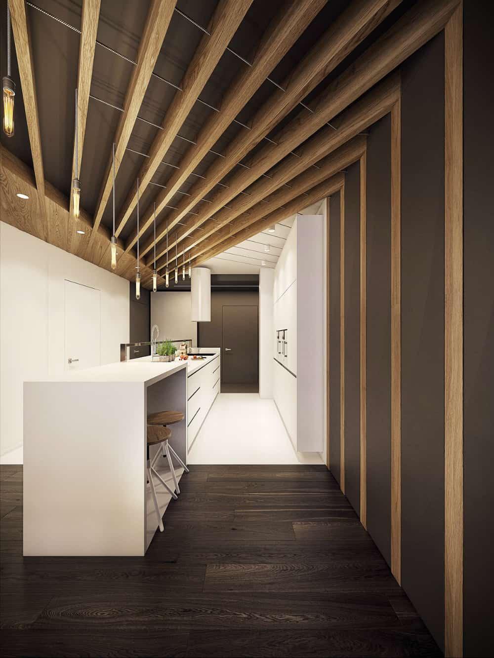Unique ceiling design by PLASTERLINA