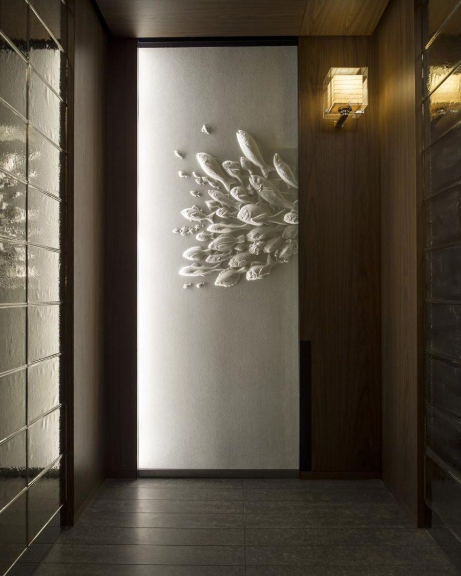 Washi paper artworks by Tetsuya Nagata at Andaz Tokyo