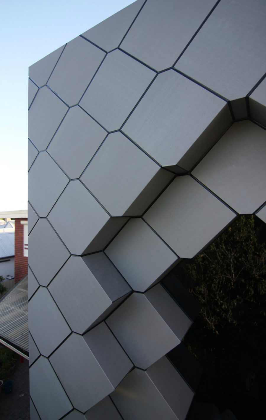 Zinc panels like honeycombs