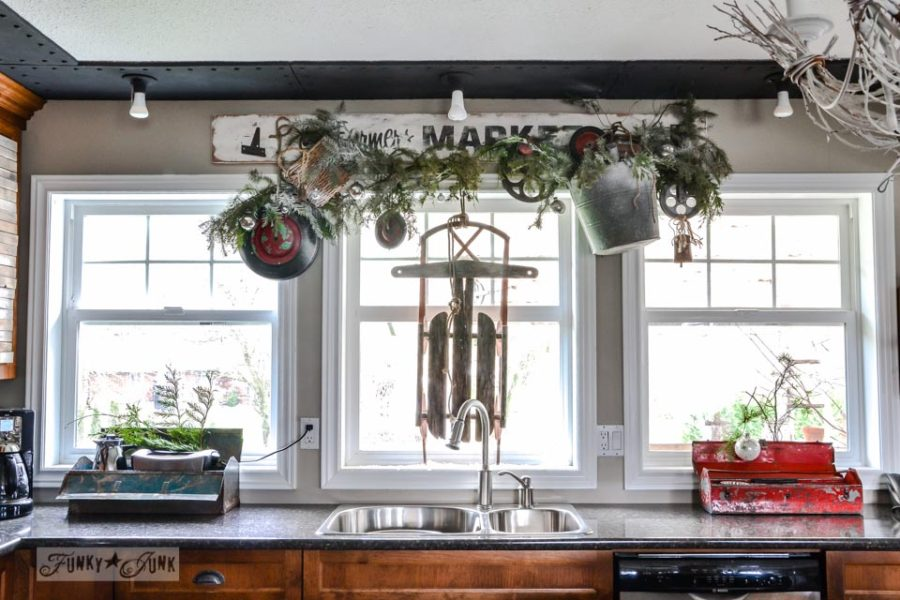 Farmhouse Kitchen Inspiration At Christmas