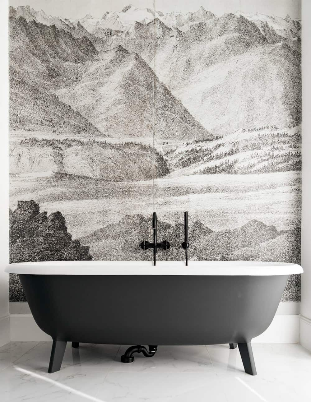 A freestanding tub never ceases to impress