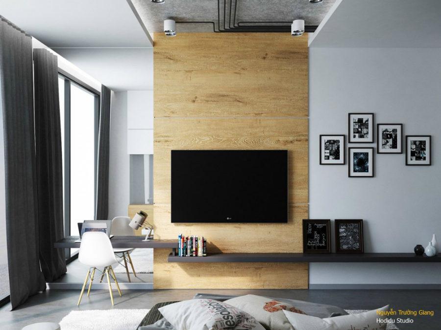 Bedroom TV wall by Đình Dũng Hoàng