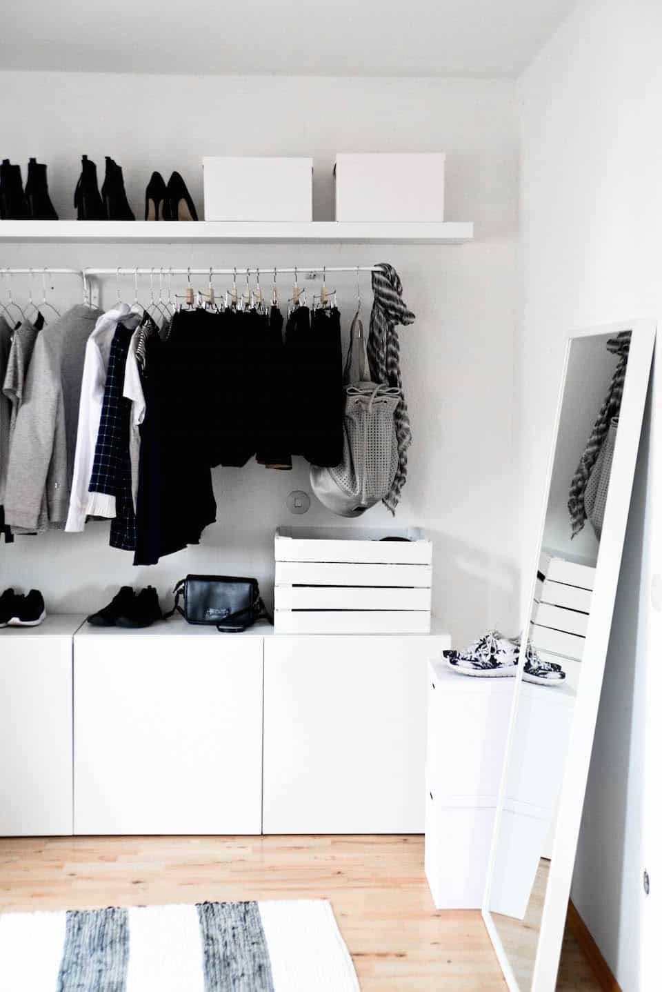 Bedroom open closet