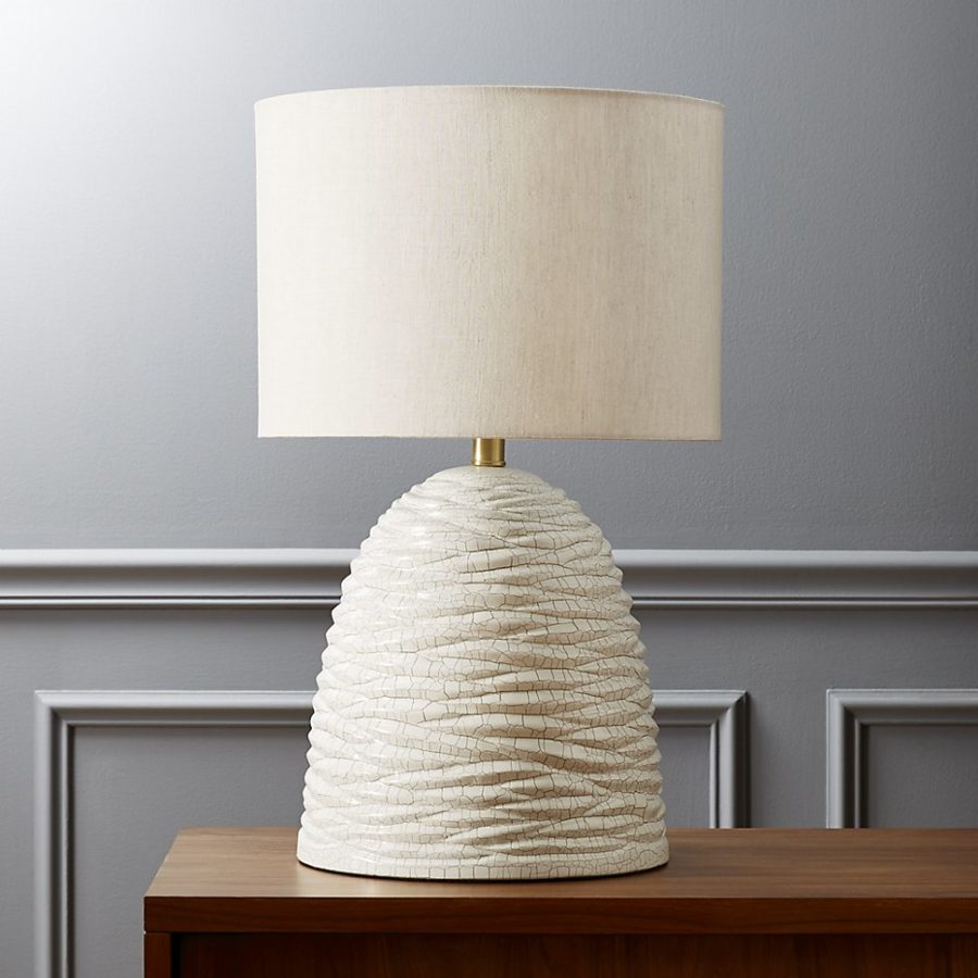 Beehive table lamp by CB2