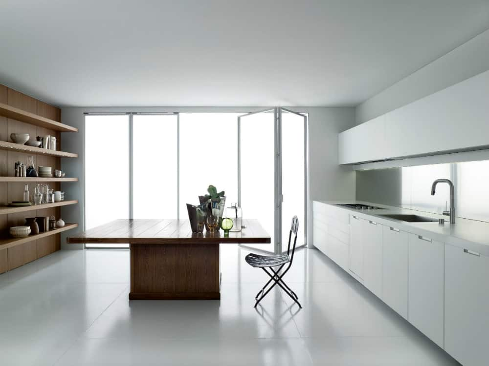 Big wide kitchen island table WK6 by Boffi
