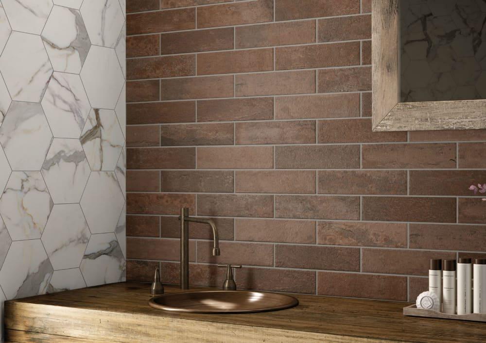 Baiadera stripey tile by Ceramic Bardelli