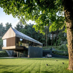Contemporary Forest Valley Villa in Vilnius