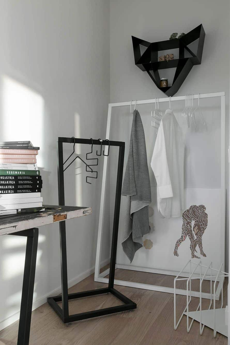 Contemporary clothing racks