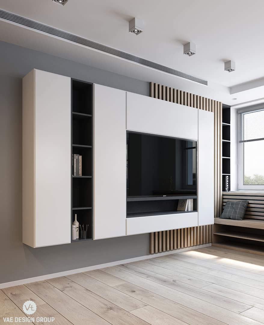 Cool Tv Wall Design By Vae Group