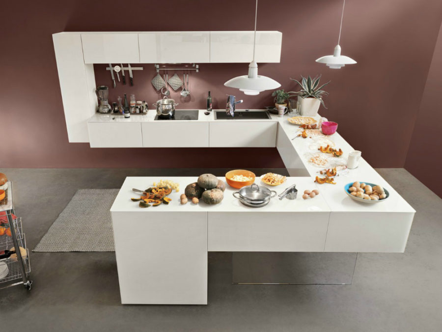 Creative kitchen design by Lago 900x675 Contemporary Kitchen Furniture Designs Youll Love