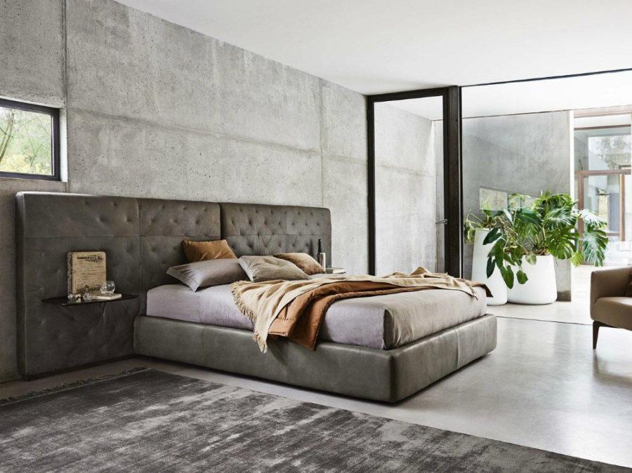 Huge Headboard Soft Bed
