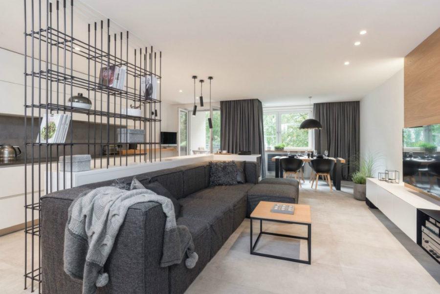 Elegant apartment in Prague Czech Republic 900x601 Modern Apartment in Prague Boasts Distilled Industrial Chic