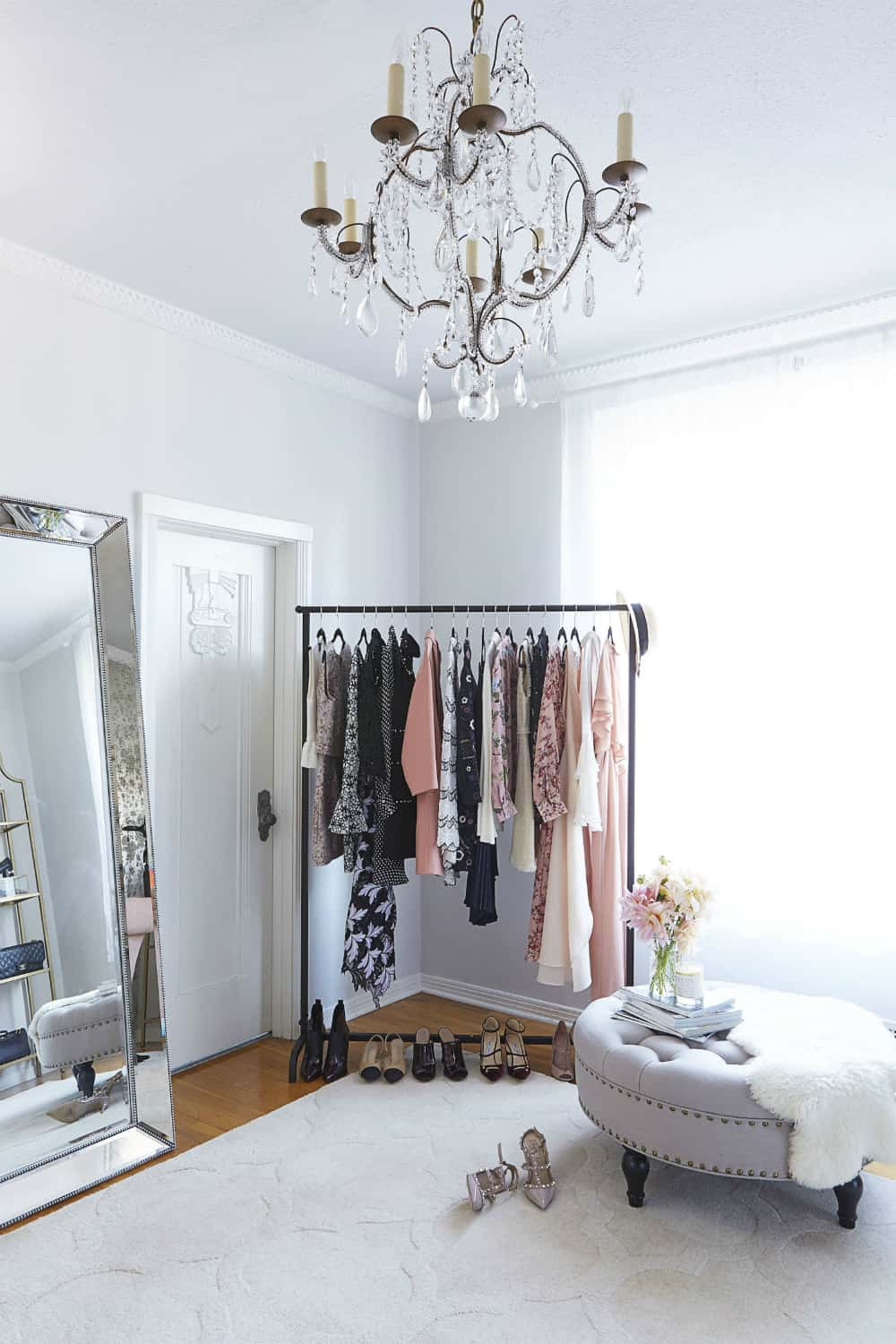 Elegant clothing rack