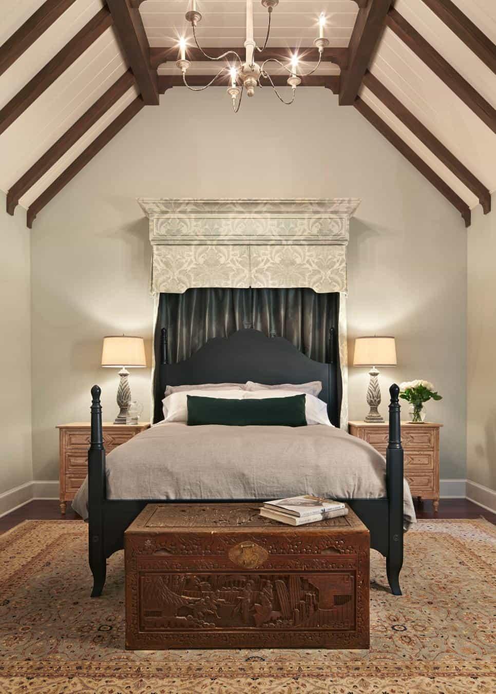Exotic bedroom design by Hyde Evans Design