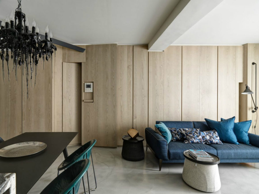 Ganna Design transforms apartment in New Taipei City 900x675 This Taipei Apartment is Deliciously Dramatic