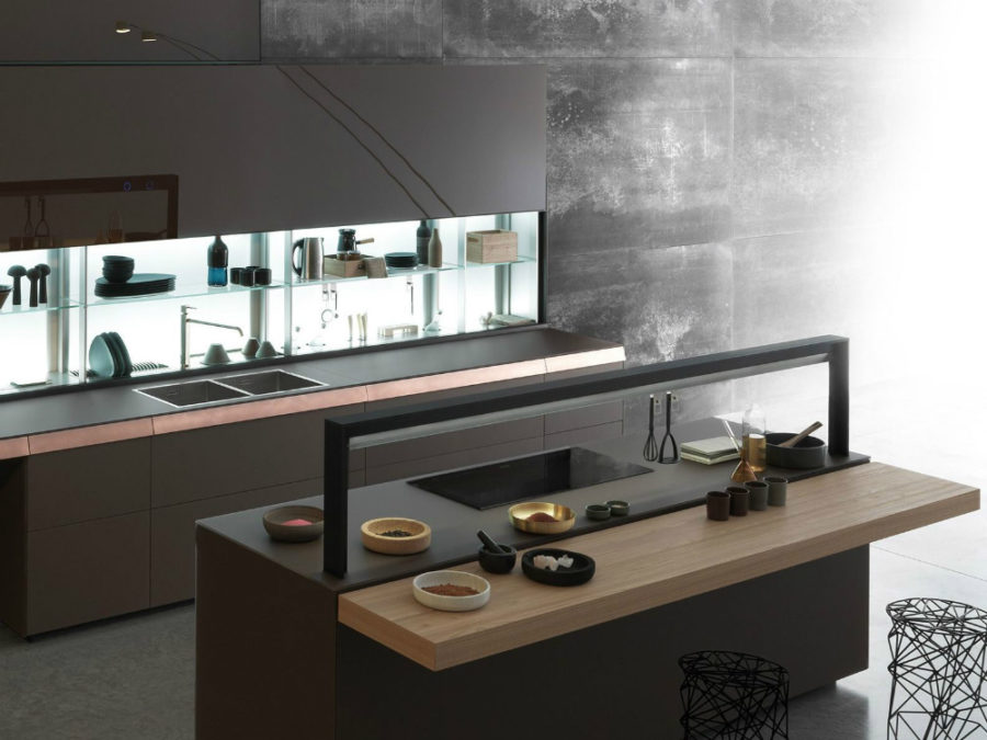 Genius Loci kitchen island by Valcucine