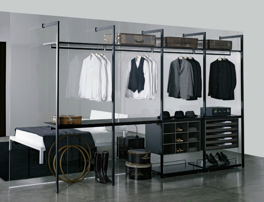 ... In Gallery Glass Divider Clothes Rack ...