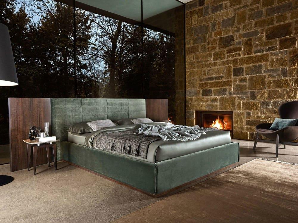 Grandangolo velvet bed by Ditre Italia