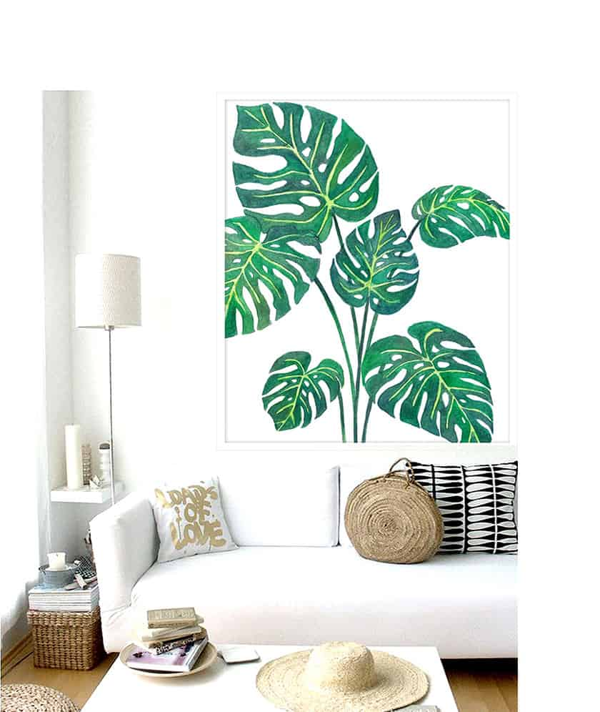 Stylish and contemporary interior greenery ideas for Tropical decor