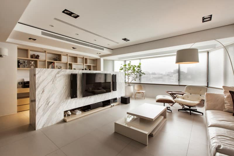 Rare Stone TV Wall Design By Yodezeen View In Gallery Half