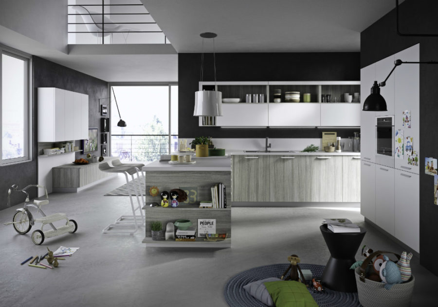 Half open kitchen cabinets Fun by Snadeiro