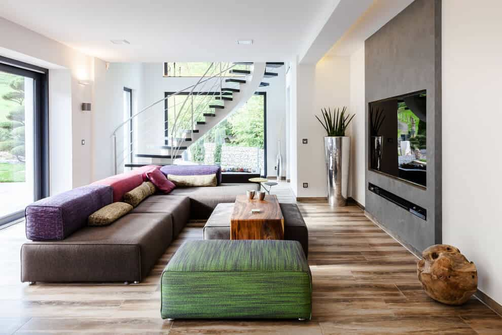 Interior is equally modern and minimal
