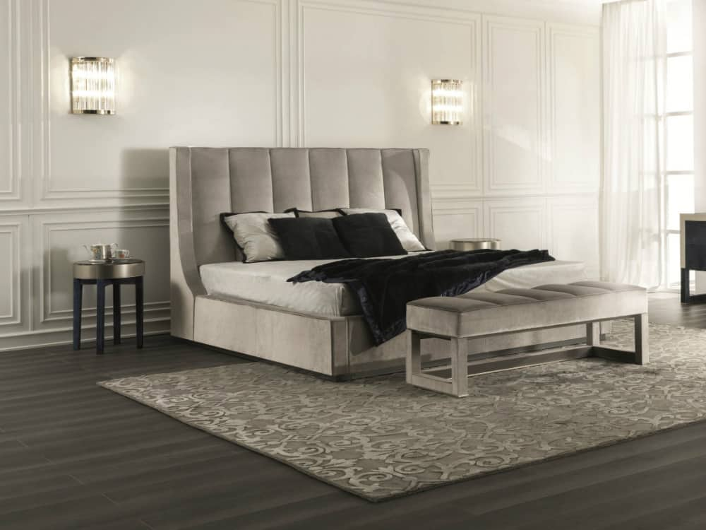 Kubrick upholstered bed by Fratelli Longhi