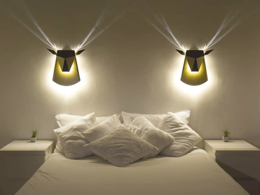 LED indirect wall lights Cerf by Compagnie