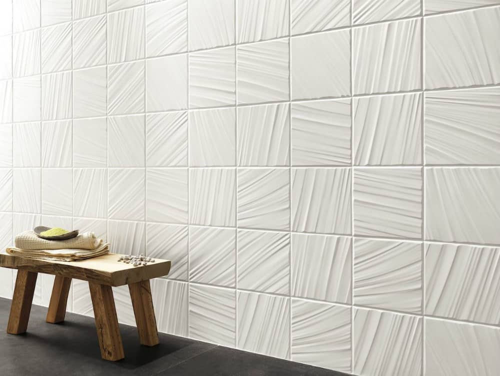Luminia textured tiles by FAP Ceramiche