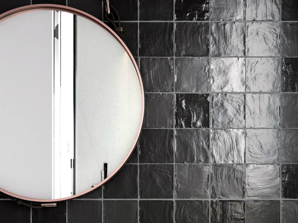 Mallorca black square tiles by Equipe Ceramicas