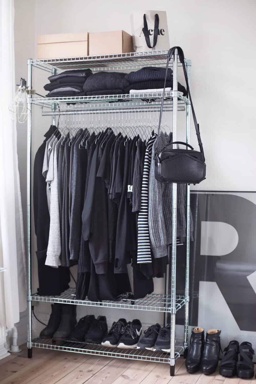 Metallic closet organizer