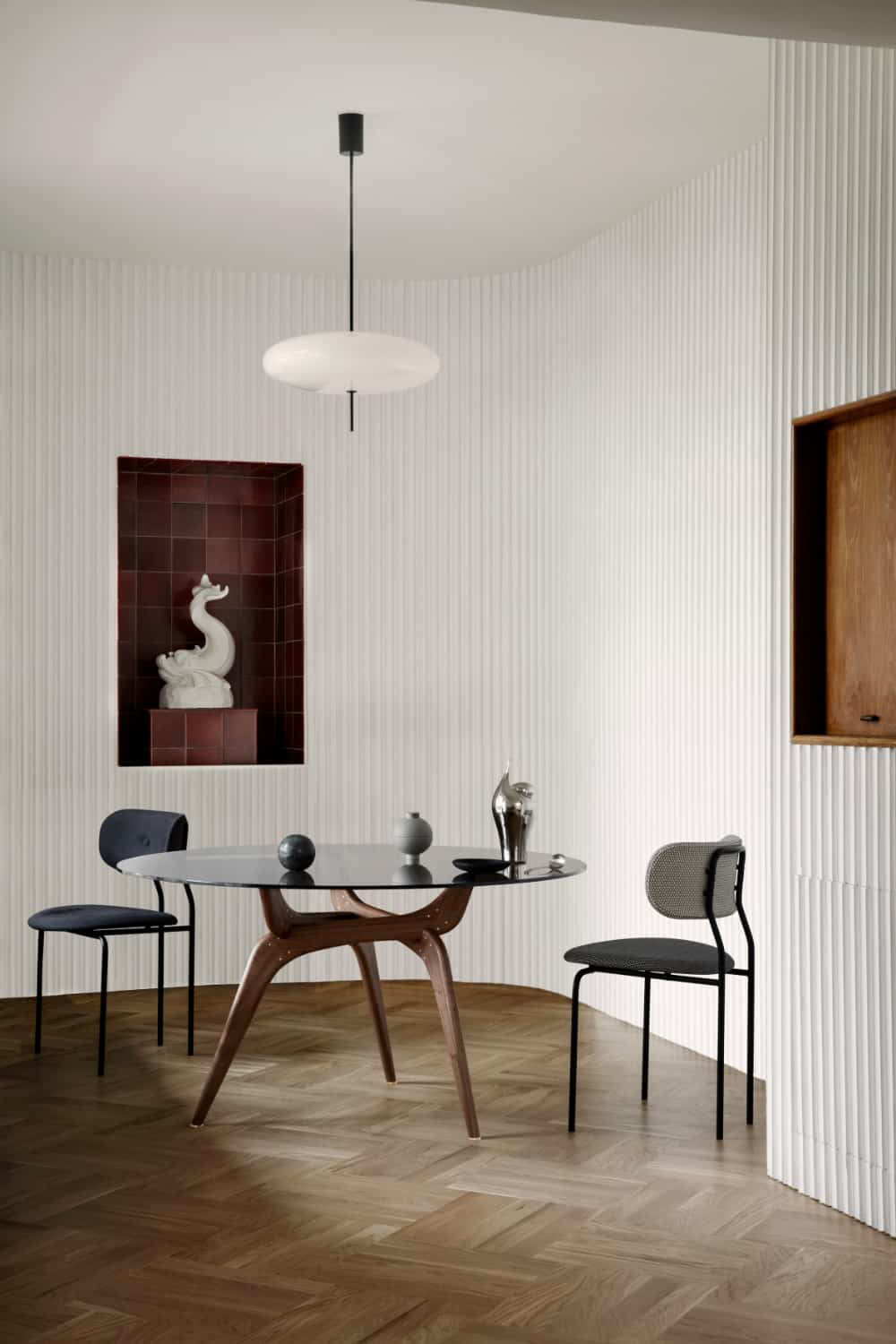 Mid-century modern tables designed by architect Hans Bølling in 1958 were never produced