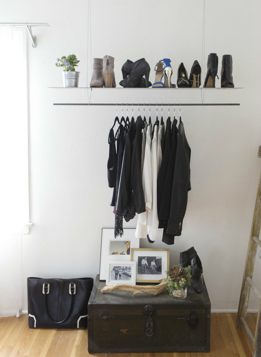 ... In Gallery Minimal Hanging Clothes Rack ...