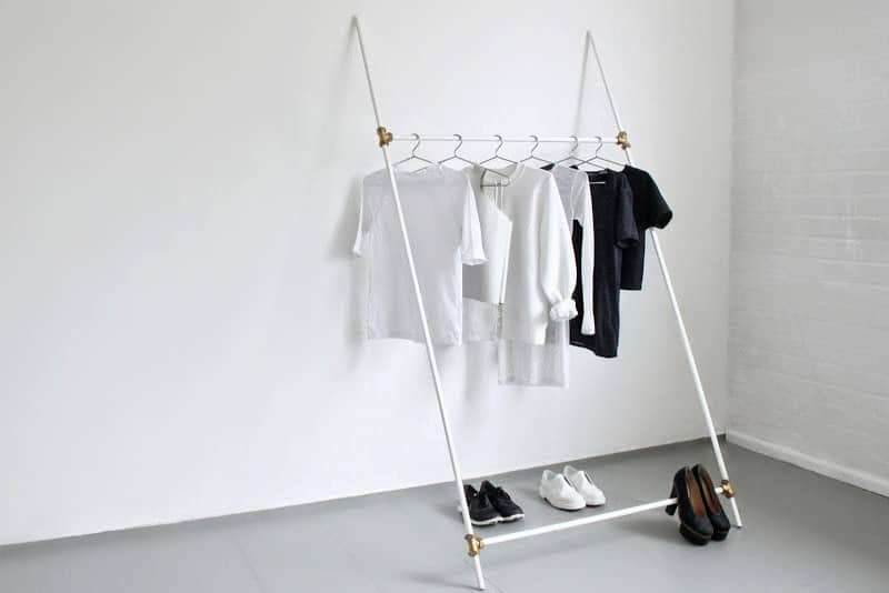Minimally stylish clothing rack